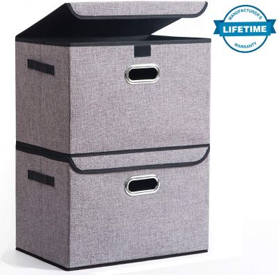 Amazon : Collapsible Storage Box Container Bins with Lids Covers[2Pack] Just $14.99 W/Code + 5% Off COUPON (Reg : $29.99) (As of 1/14/2020 9.59 AM CST)