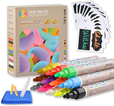 Amazon : Erasable Liquid Chalk Markers, (12 Pack 6mm) Just $6.99 W/Code (Reg : $13.99) (As of 1/22/2020 6.20 PM CST)