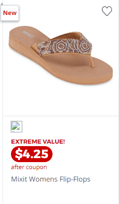 Jcpenny : Up to 80% Off Women's Flip Flops & Sandals From $4.25!