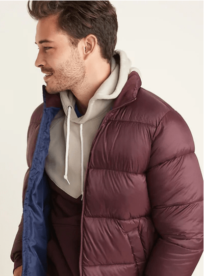 Old Navy : Frost-Free Quilted Puffer Zip Jacket for Men Just $11.18 !