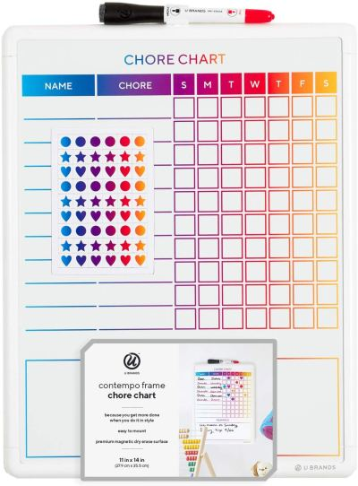 Amazon : Magnetic Dry Erase Chore Chart, 14 x 11 Inches, White Frame Just $6.94 (Reg : $11.99) (As of 1/24/2020 7.07 PM CST)