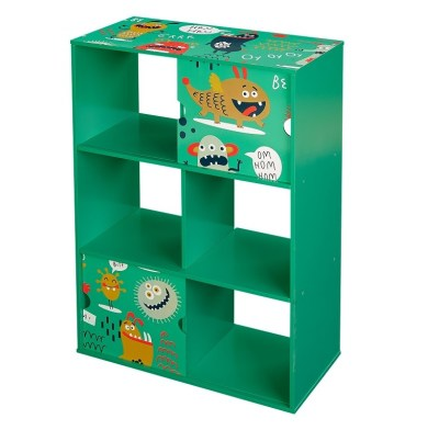 Walmart : Monsters Kids Bookshelf, 3-Tier with 2 Sliding Doors Just $22.40 (Reg $45.99)
