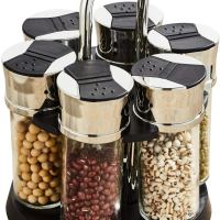 Amazon : Revolving Spice Rack with 6 Glass Jar Just $7.19 W/Code + 5% Off Coupon (Reg : $16.99) (As of 1/19/2020 6.14 PM CST)
