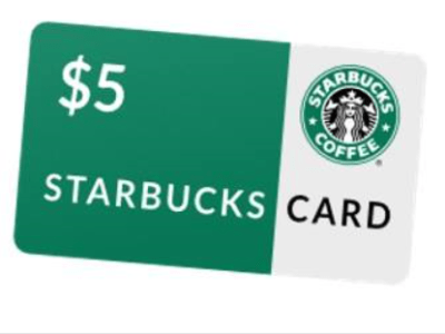 PAY $1 FOR $5 STARBUCKS GIFTCARD!