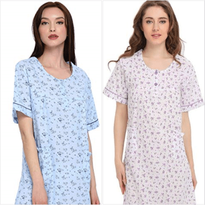 Amazon : Short Sleeve Nightgown Just $5.61-8.49 W/50% Off Coupon (Reg : $16.99) (As of 1/22/2020 5.52 PM CST)