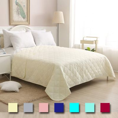 Amazon : Soft Bedspread Ivory,Full/Queen Size 86x86 Inches Diamond Pattern Lightweight Hypoallergenic Microfiber Bed Coverlet Quilt Just $9.52 (Reg : $16.82) (As of 1/22/2020 11.02 AM CST)