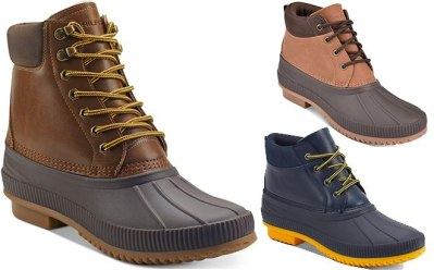 MACY'S: Tommy Hilfiger Men's Duck Boots JUST $49 (Regularly $100) + FREE Shipping