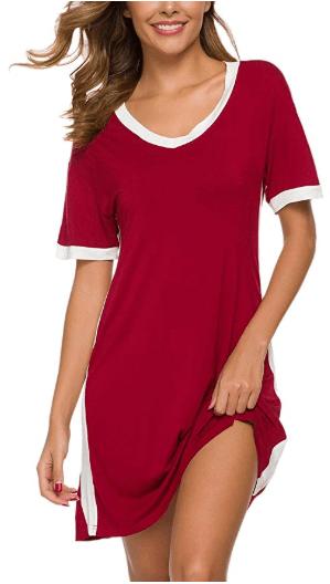 Amazon : Women Night Sleep Shirt Just $10.78-12.25 W/Code (Reg : $21.99-24.99) (As of 1/24/2020 6.35 PM CST)