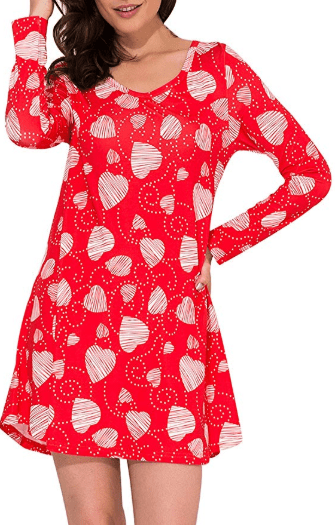 Amazon : Women's Long Sleeve Valentines Cute Heart Print Flare Casual Swing Dress Just $9.99 W/Code (Reg : $19.99) (As of 1/14/2020 11.26 AM CST)