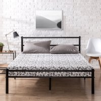 Amazon : ** PRICE DROP** 12 inch Black Metal Platform Bed Frame with Headboard and Footboard (As of 2/16/2020 6.10 PM CST)