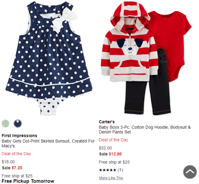 Macy's : Carter's Deal of the Day Sale & Clearance!