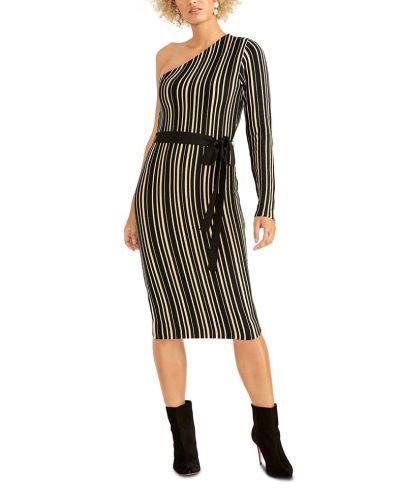 MACY'S: Rachel Roy Belted One-Shoulder Sweater Dress, JUST $19.93 (Reg $129.00)