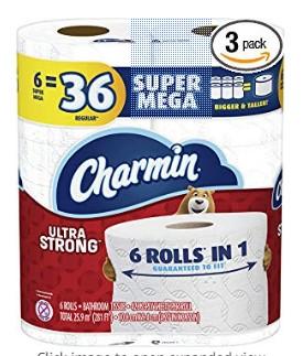 AMAZON: Charmin Ultra Strong Toilet Paper 18 Mega Rolls ONLY $18.29 Each (Reg $27)