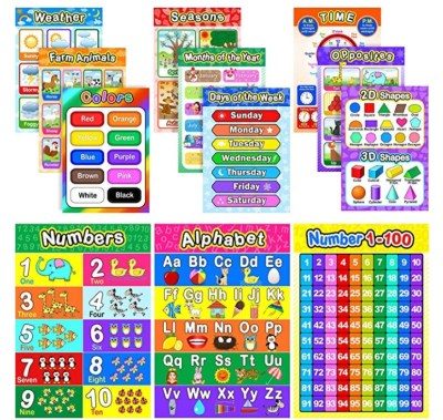 AMAZON: Educational Preschool Poster for Toddler and Kid, JUST $7.99 (REG $12.99)