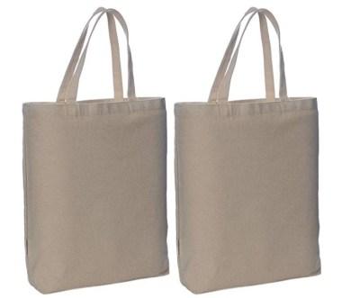 AMAZON: Reusable Canvas Tote Bags, CLIP 50% off coupon