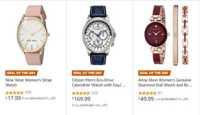 Amazon : SAVE UP TO 70% ON VALENTINE'S GIFTS FROM TOP WATCH BRAND Starting as low as $17.99 (As of 2/10/2020 5.30 AM CST)