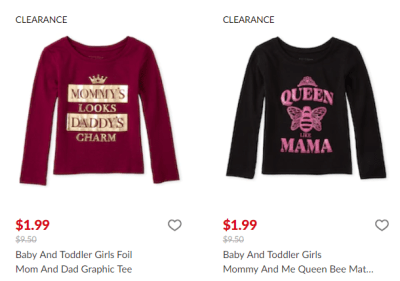 The Children's Place : Graphic Tees From $1.99!
