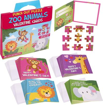 Amazon : Valentine's Cards For Kids - Zoo Animal Punch Out Puzzle Just $2.99 (Reg : $9.95) (As of 2/07/2020 9.40 AM CST)