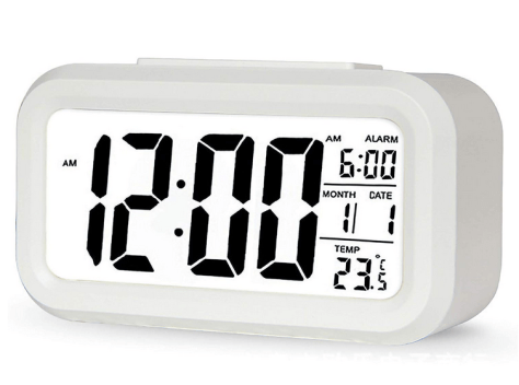 Bedrooms Digital Alarm Clock,Temperature Smart Night Light for $4.67 w/code