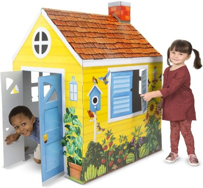 AMAZON: Melissa & Doug Country Cottage Indoor Playhouse Only $32.24 (Reg. $50)