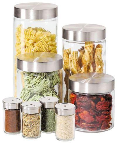 MACY'S: Oggi Canisters & Spice Jars, Glass 8 Piece Set $23.99 (Reg $42.99)