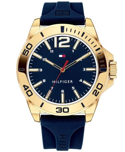 MACY'S: Tommy Hilfiger Men's Blue Silicone Strap Watch 45mm $32.50 (Reg $65.00) with code FLASH