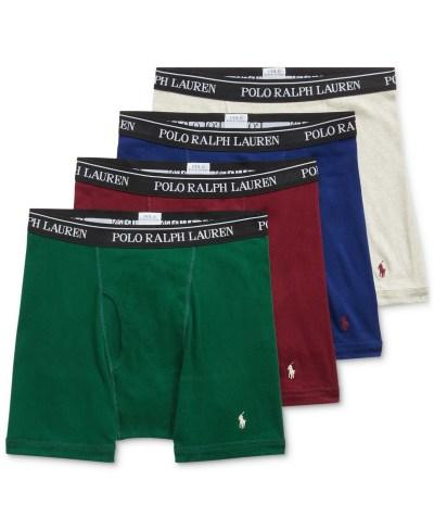 MACY'S: Polo Ralph Lauren Men's 3 + 1 FREE Cotton Boxer Briefs ONLY $19.13 (Reg $43)