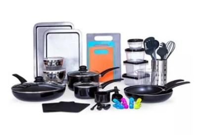 MACY'S: 64-Piece Kitchen-In-A-Box Cookware & Food Storage Set Just $47.99 (Reg $160)