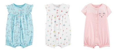 MACY'S: Carter's Baby Rompers Starting at JUST $6 (Regularly $16) – Many Cute Styles!