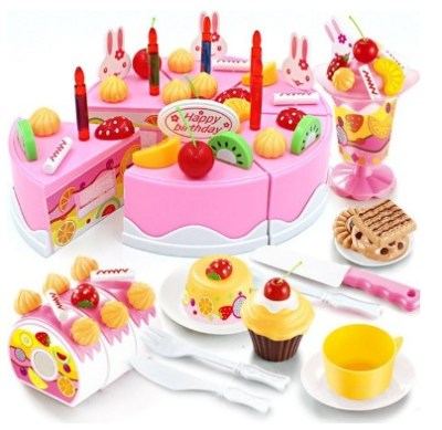 WALMART: Birthday Cake Play Food Set Pink 75 Pieces $14.98 (Reg $24.99)