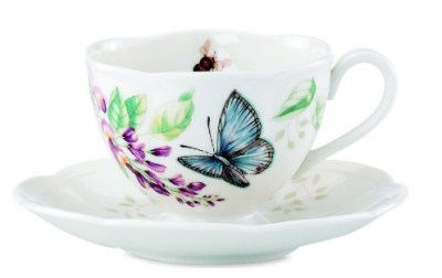 MACY'S: Lenox Butterfly Meadow Butterfly Cup and Saucer Set For $14.99 ($30)