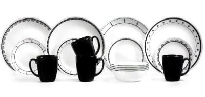 WALMART: Corelle Classic 16-Piece Black & White Mix and Match Dinnerware Set $29.99 ($49.99)