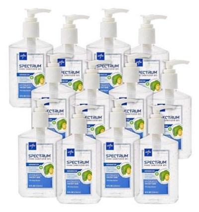 SAM'S CLUB: Advanced Hand Sanitizer Gel Bottles (12 ct., 8 oz. each) $44.96