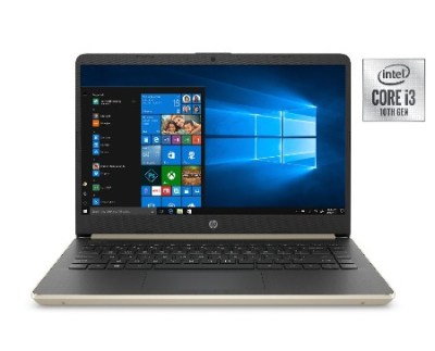 "WALMART: HP 14"" Laptop, Intel Core i3-1005G1, 4GB SDRAM, 128GB SSD, Pale Gold, 14-DQ1038wm $299.00 (Reg $469.00)"