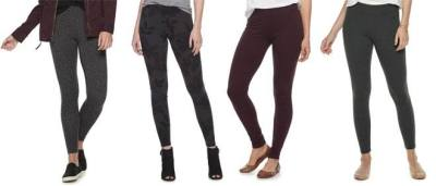 KOHL'S: Women's Jersey Leggings for JUST $6.79 + FREE Pickup (Regularly $20)