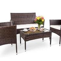 AMAZON: 4-Piece Sectional Rattan Patio Furniture