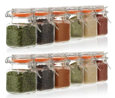 WALMART: 24 Pack – 3.4 Ounce Mini Square Glass Spice Jars Now $22.95