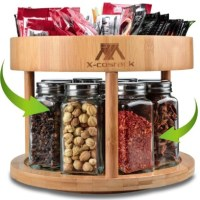 AMAZON: 10inch Bamboo Spinning Spice Rack – DOUBLE DISCOUNT!!!