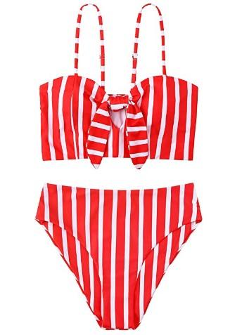 AMAZON: Women's Striped Swimsuit Two-Piece – 70% OFF!!!