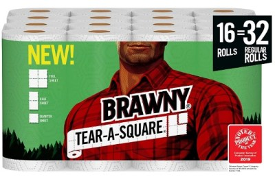 AMAZON: Brawny Tear-A-Square Paper Towels, Quarter Size Sheets, 16 Count