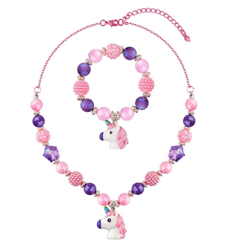 Kids Jewelry Necklace and Bracelet Set for Girls at $7.49 w/code