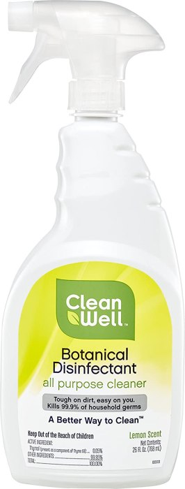 AMAZON: CleanWell Botanical Disinfectant All Purpose Cleaner, Lemon, 26 fl oz for JUST $9.18
