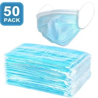 AMAZON: Filter Mask - 50 Count 3-Ply Disposable Face Mask (50PACK), LIMITED STOCK!!