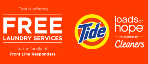 FREE Tide Laundry Services for First Responders in Select Cities!