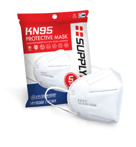 5-pk. SupplyAid KN95 Protective Mask: $17