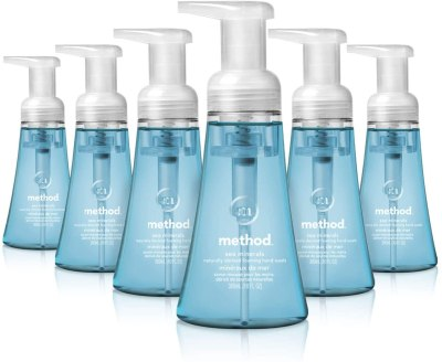 AMAZON: Method Foaming Hand Soap, Sea Minerals, 10 Fl Oz (Pack of 6), IN STOCK!