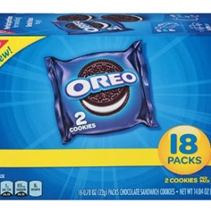 AMAZON: OREO Chocolate Sandwich Cookies, 4 Boxes of 18 Snack Packs