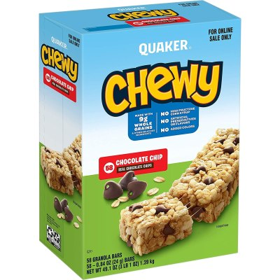 AMAZON: Quaker Chewy Granola Bars, Chocolate Chip, AS LOW AS $9.57 · CHECKOUT VIA SUBSCRIBE & SAVE!