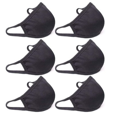 AMAZON: QueensFace 3D Cotton Face Mask Mouth Cover 2 Layer Thin Black (6 Pack), LIMITED STOCK!!