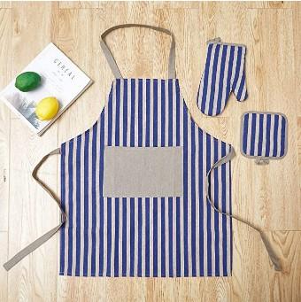 AMAZON: Kitchen Apron, an Oven Mitt and a Pot Holder, 100% Cotton – 50% OFF!!!